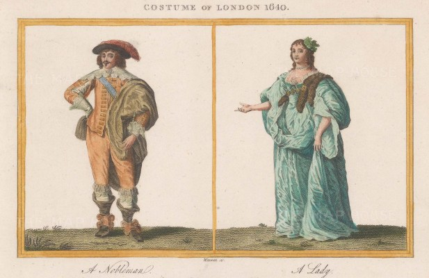 London 1640. A Nobleman and a Lady.