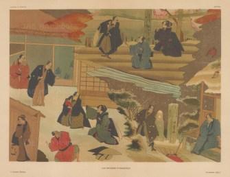 Ukiyo-e advertisement for Kubuki Theatre. Winter Garden.