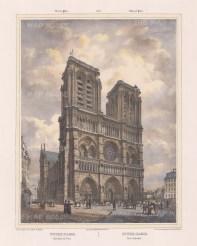 """Benoit: Notre Dame. c1860. A hand coloured original antique lithograph. 12"""" x 16"""". [FRp1351]"""