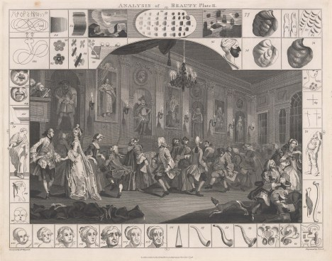 Illustrating Hogarth's theories on the sources of Beauty. Sold as a pair.