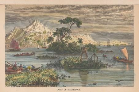 Chantaboun (Chanthaburi): View of the port on the Chanthaburi river.