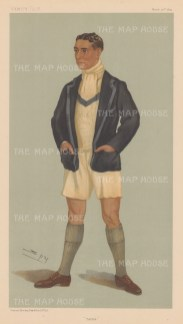 """Tarka"", Harcourt Gilbey Gold, Captain of Leander 1898-1900. SPY."