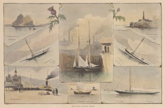 Eight views of yachts and popular sights.