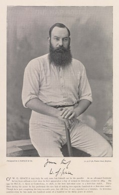 WG. Grace. With signature and brief career history.
