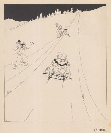 Bob-sleigh team on route.
