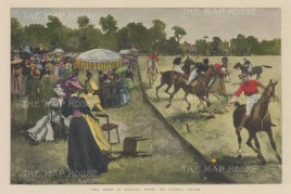Polo Match at Ranelagh before the Colonial Visitors.