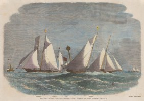 Schooner Match: Rounding the Mouse Lightship.