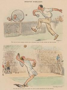 "Punch: Tennis. 1927. A hand coloured original vintage wood engraving. 7"" x 10"". [SPORTSp3464]"