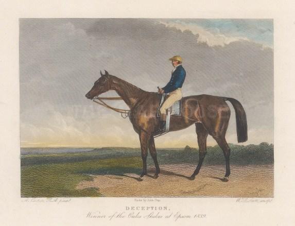 Winner of the Oaks Stakes at Epsom 1843 with jockey John Barham Day.