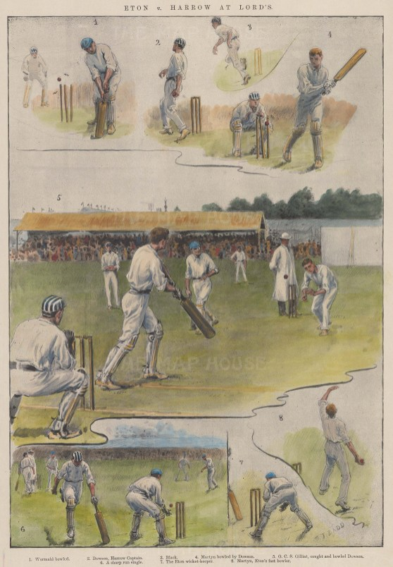 Eton v. Harrow. Eight sketches of the match.