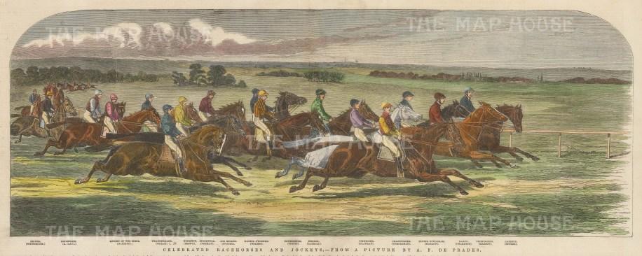 Celebrated Jockeys and Racehorses. With key.