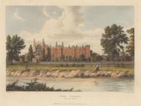 "Ackermann: Eton College, Berkshire.. 1826. An original colour antique aquatint. 11"" x 8"".[ENGp149]"