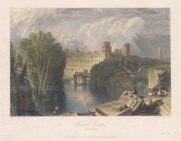 View from over the river Avon. After JMW Turner.