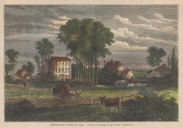 Paddington Green in 1750.