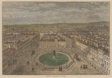 Golden Square, Soho. View in 1750.