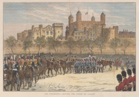 The procession with the Royal Horse Artillery for the funeral of Field Marshall Lord Napier of Magdala, constable of the Tower en route to St Paul's Cathedral.