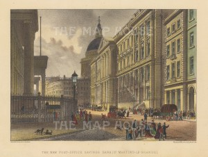 St Martin's Le Grand. View of the Post Office Savings Bank.