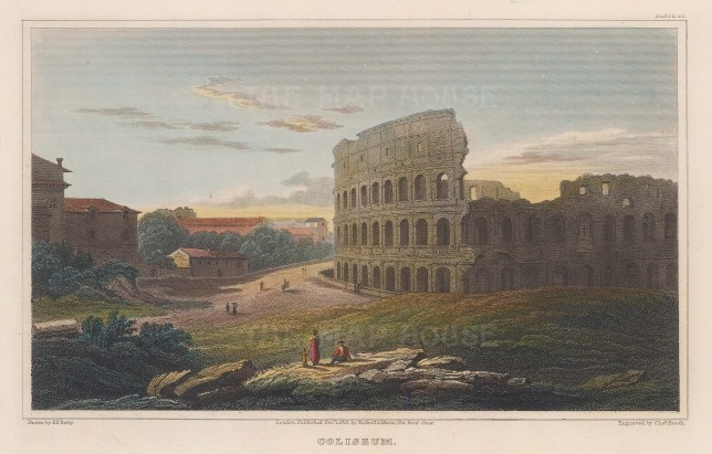 Colosseum: Panoramic view over the amphitheatre.