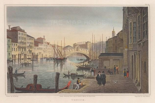 Venice: Rialto Bridge. View on the Grand Canal.