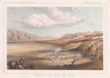 Teofulio Summit (Warners Pass): View from San Felipe towards the hills.