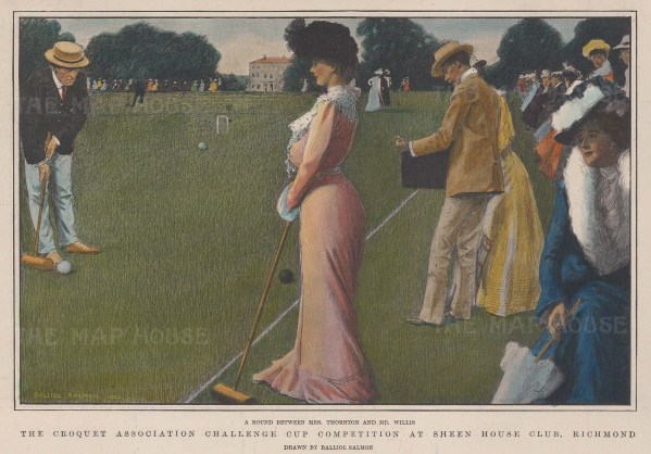 Sheen House Club. Croquet competition.