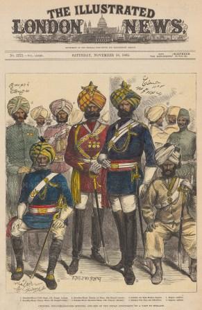 British Overseas: Officers of the Bengal Lancers, Cavalry, Punjab Infantry, Madras Sappers and Balochees.