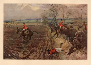 Fox Hunting. The Belvoir. The Duke of Rutland's Hounds in the Vale near Jericho Gorse.