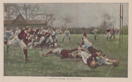 Dash for a Scrimmage: After the painting by Ernest Prater exhibited at the RA in 1897.