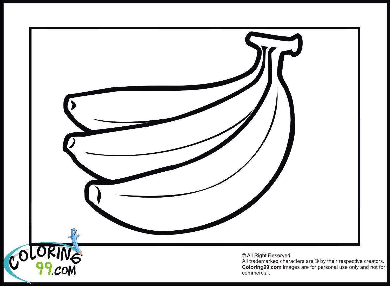 Beneficial Fruit Banana 20 Banana Coloring Pages