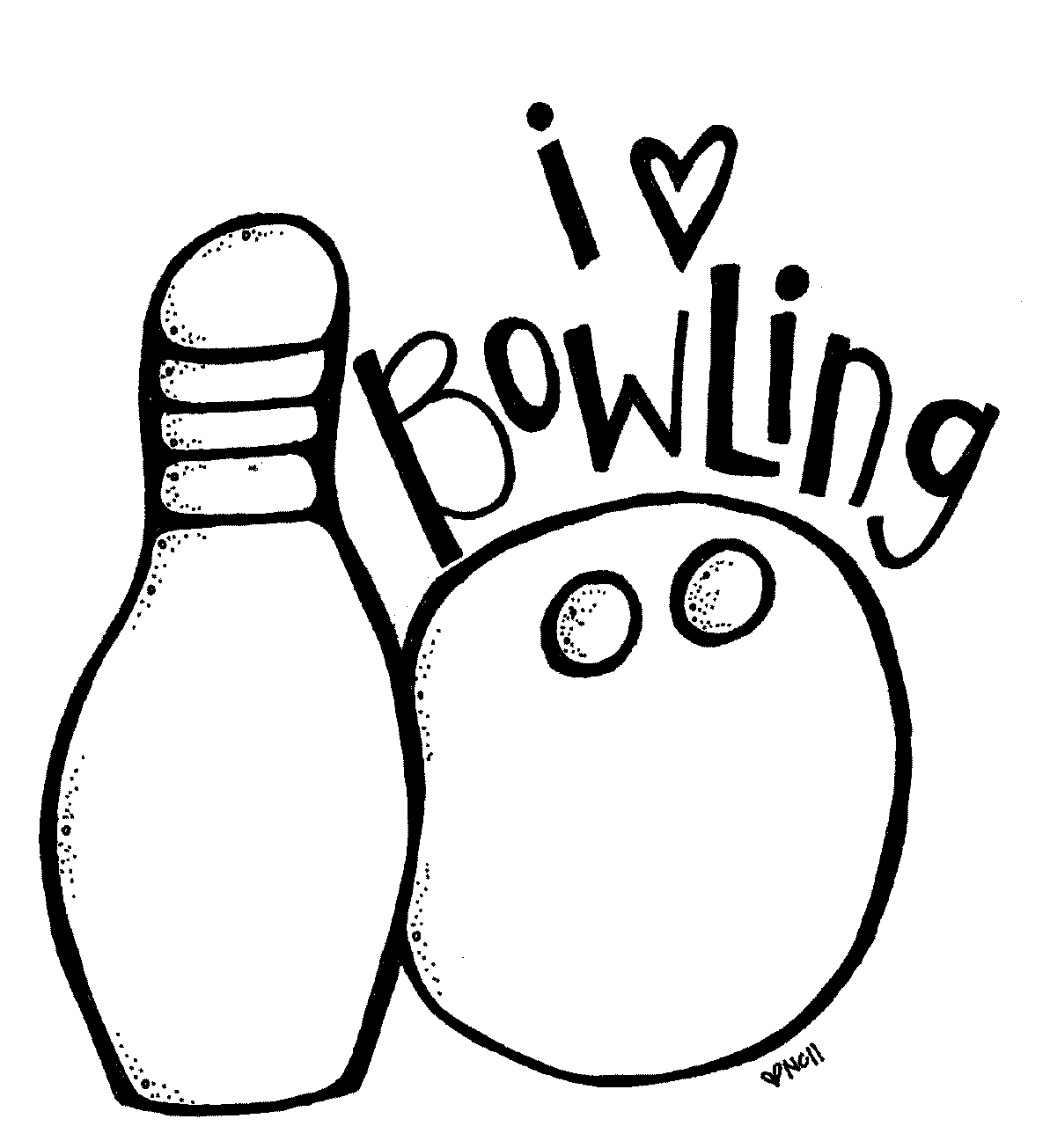 Bowling Print And Color Free Printables