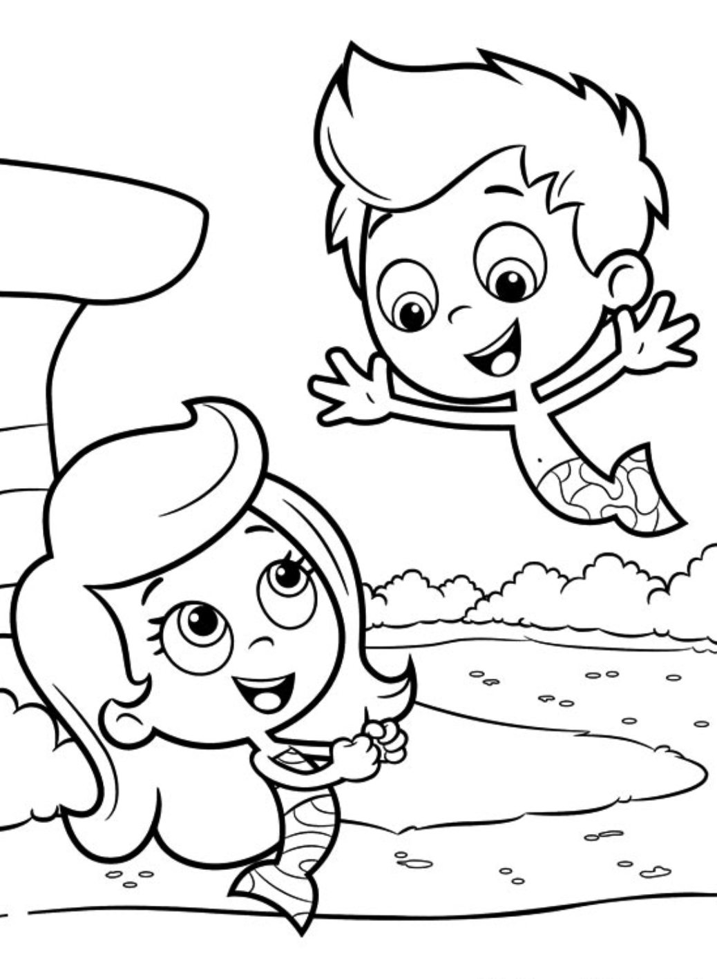 Bubble Guppies Coloring Book. student bubble guppies coloring sheets ...