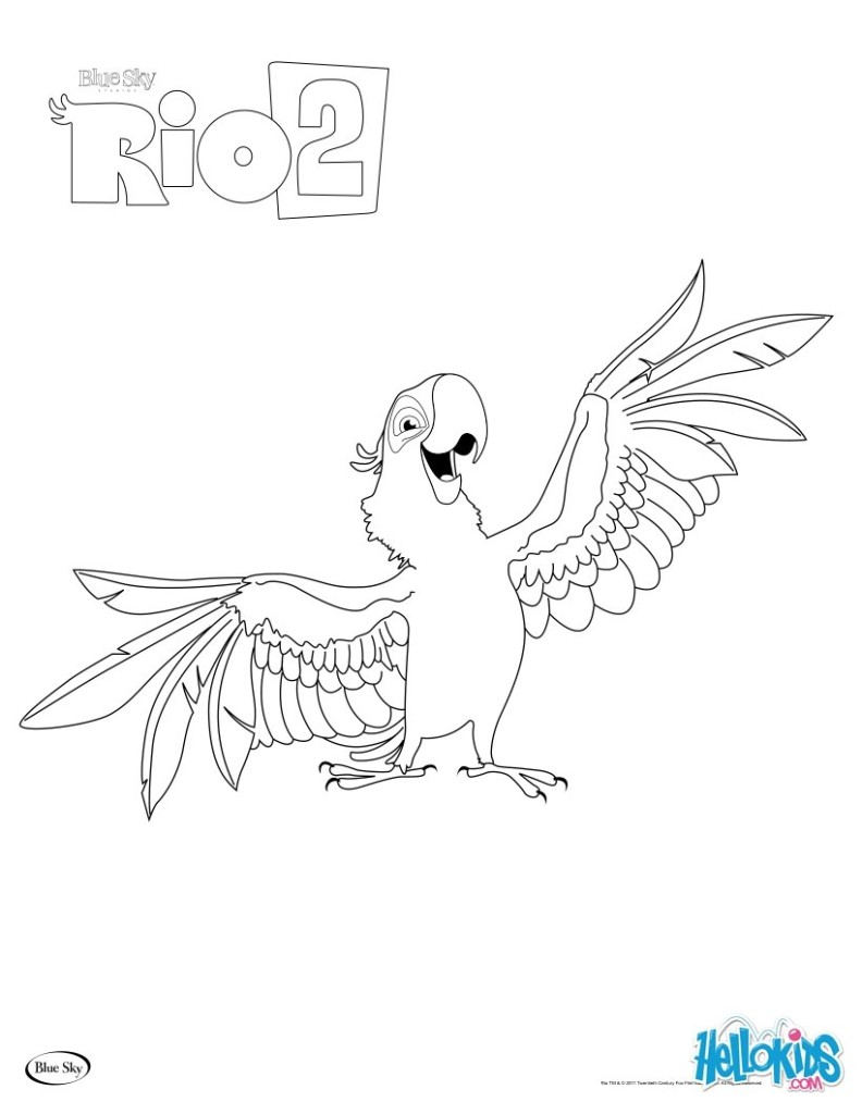Rio Coloring Pages For Kids Free Printables