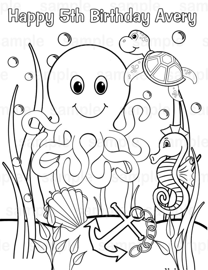 sea coloring pages for kids free printables