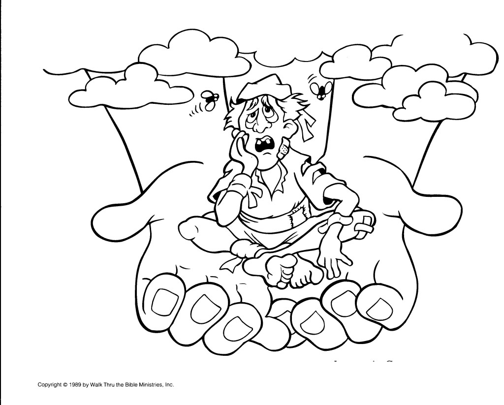 Coloring Pages For The Story Of Job