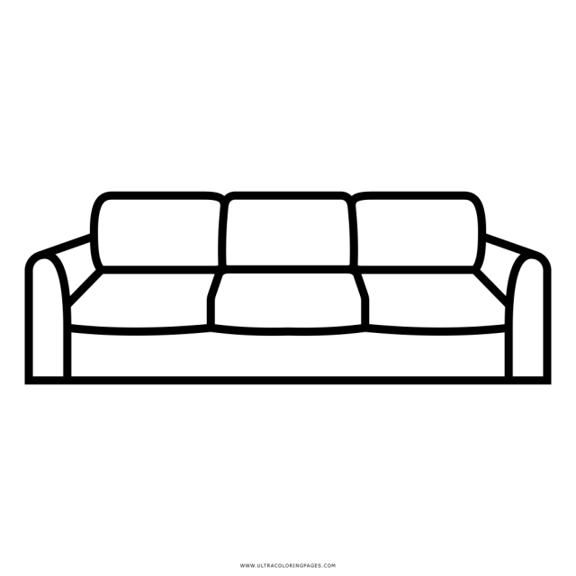 Sofa Coloring Page - Ultra Coloring Pages