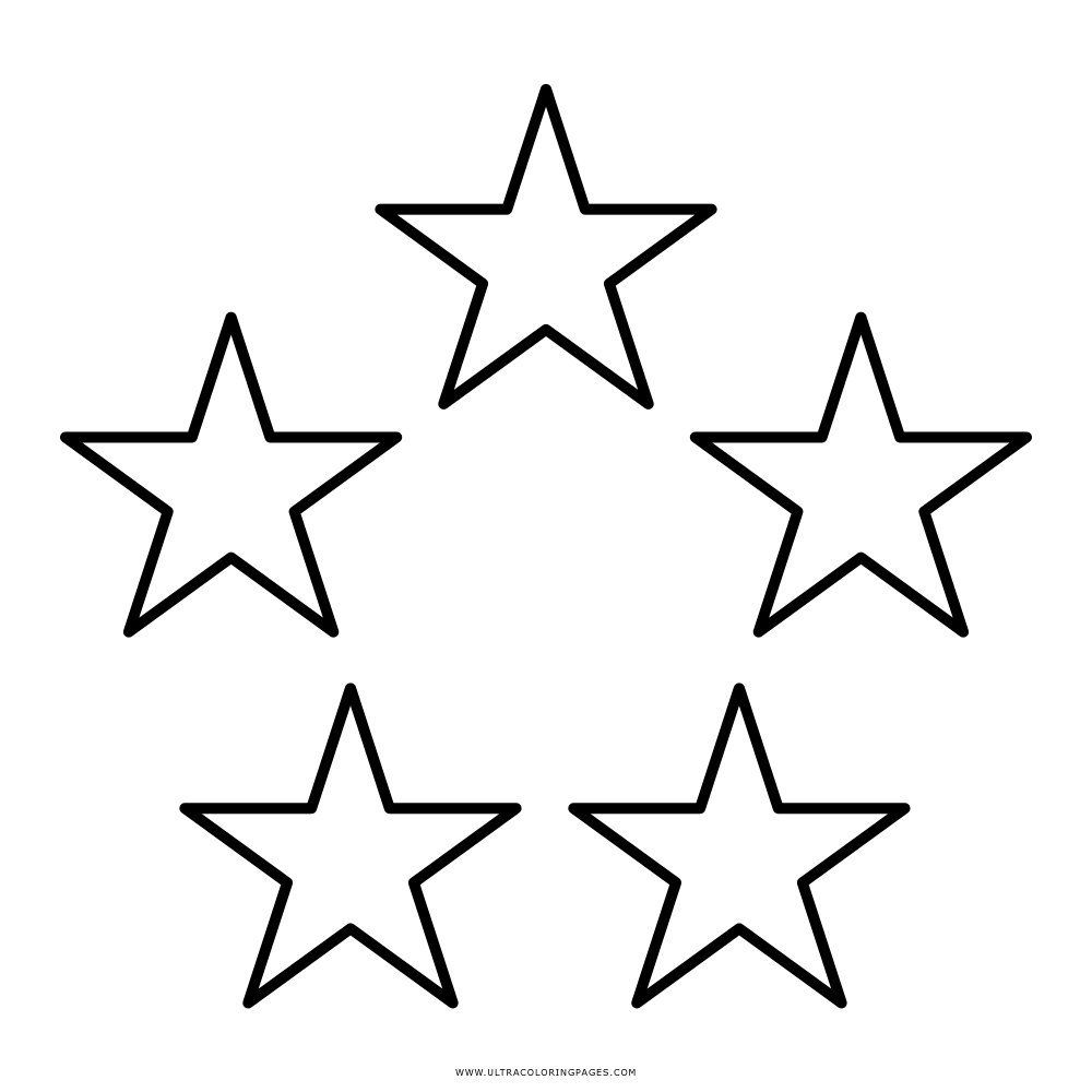 Five Stars Coloring Page Ultra Coloring Pages