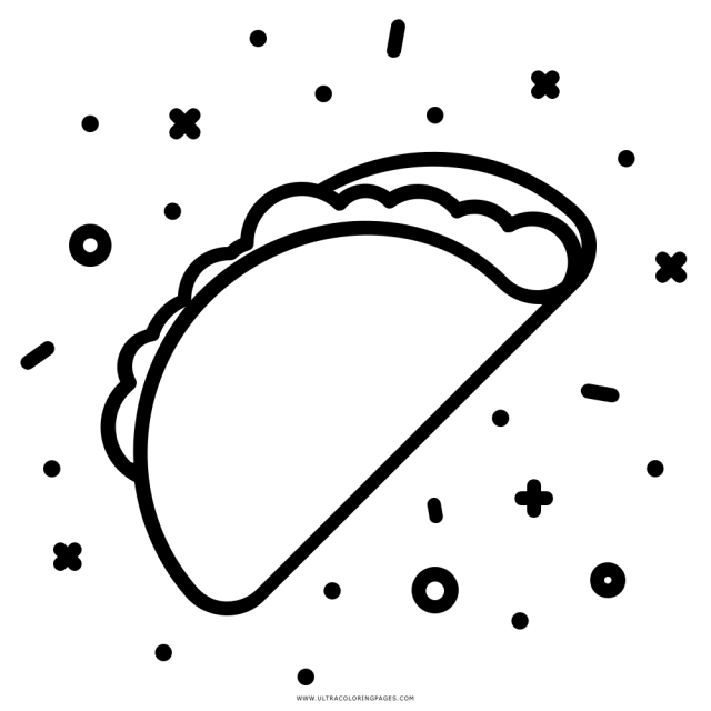 Taco Coloring Page - Ultra Coloring Pages