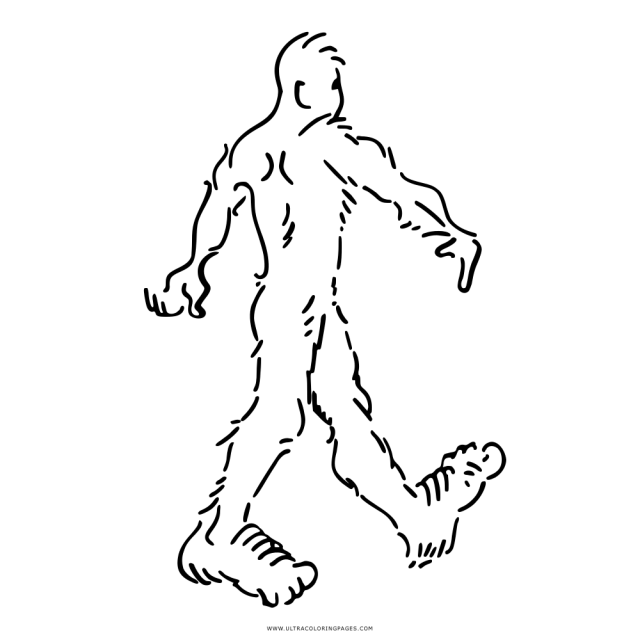 Sasquatch Coloring Page - Ultra Coloring Pages