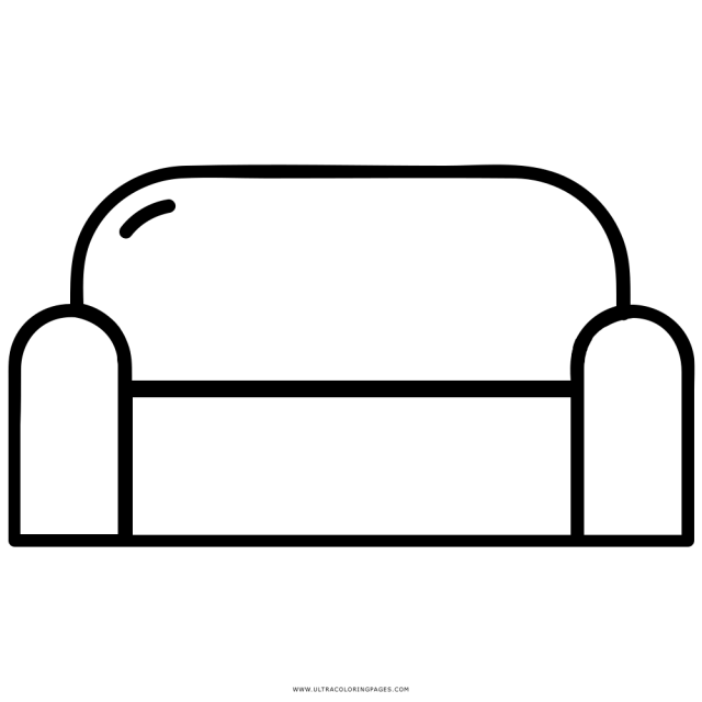 Couch Coloring Page - Ultra Coloring Pages