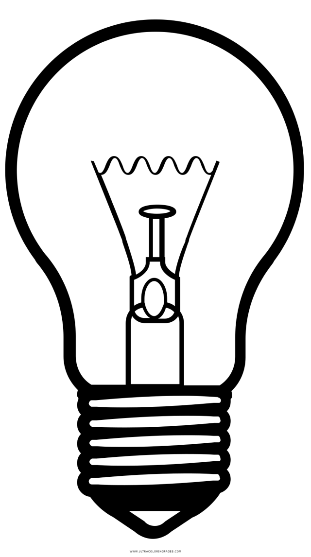 Light Bulb Coloring Page - Ultra Coloring Pages