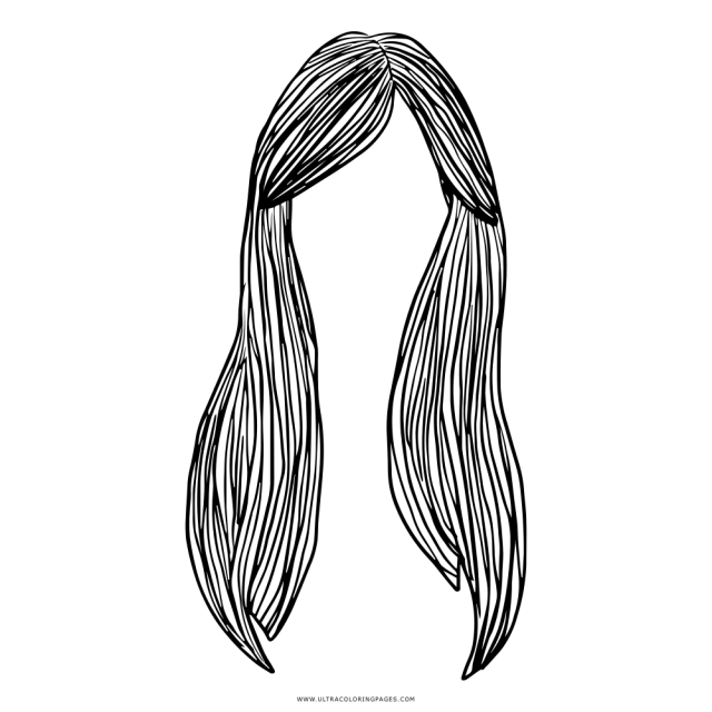 Long Hair Coloring Page - Ultra Coloring Pages