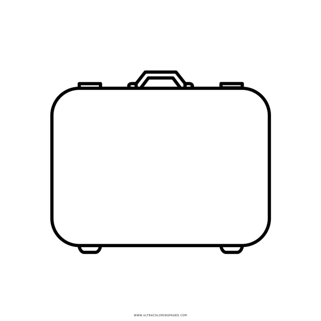 Suitcase Coloring Page - Ultra Coloring Pages