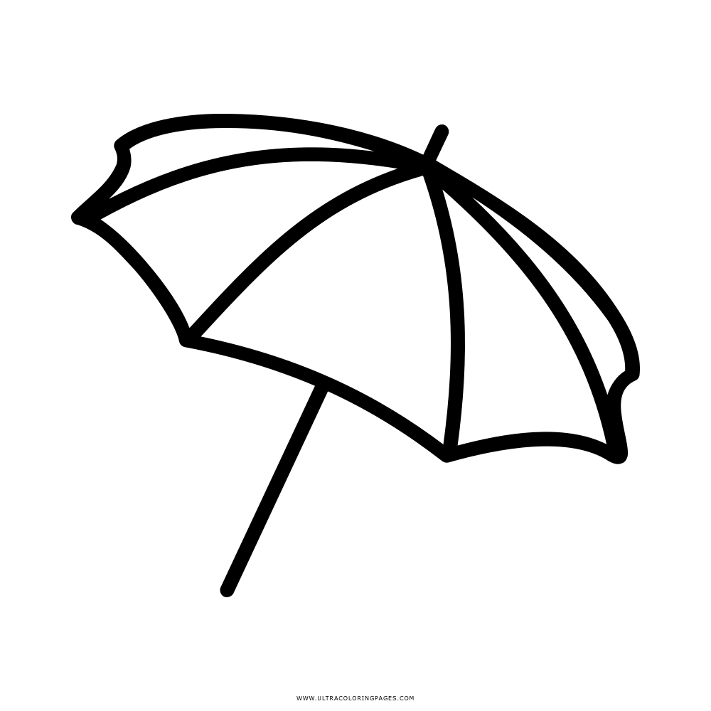 Free Coloring Pages Download Beach Umbrella Page Ultra Of