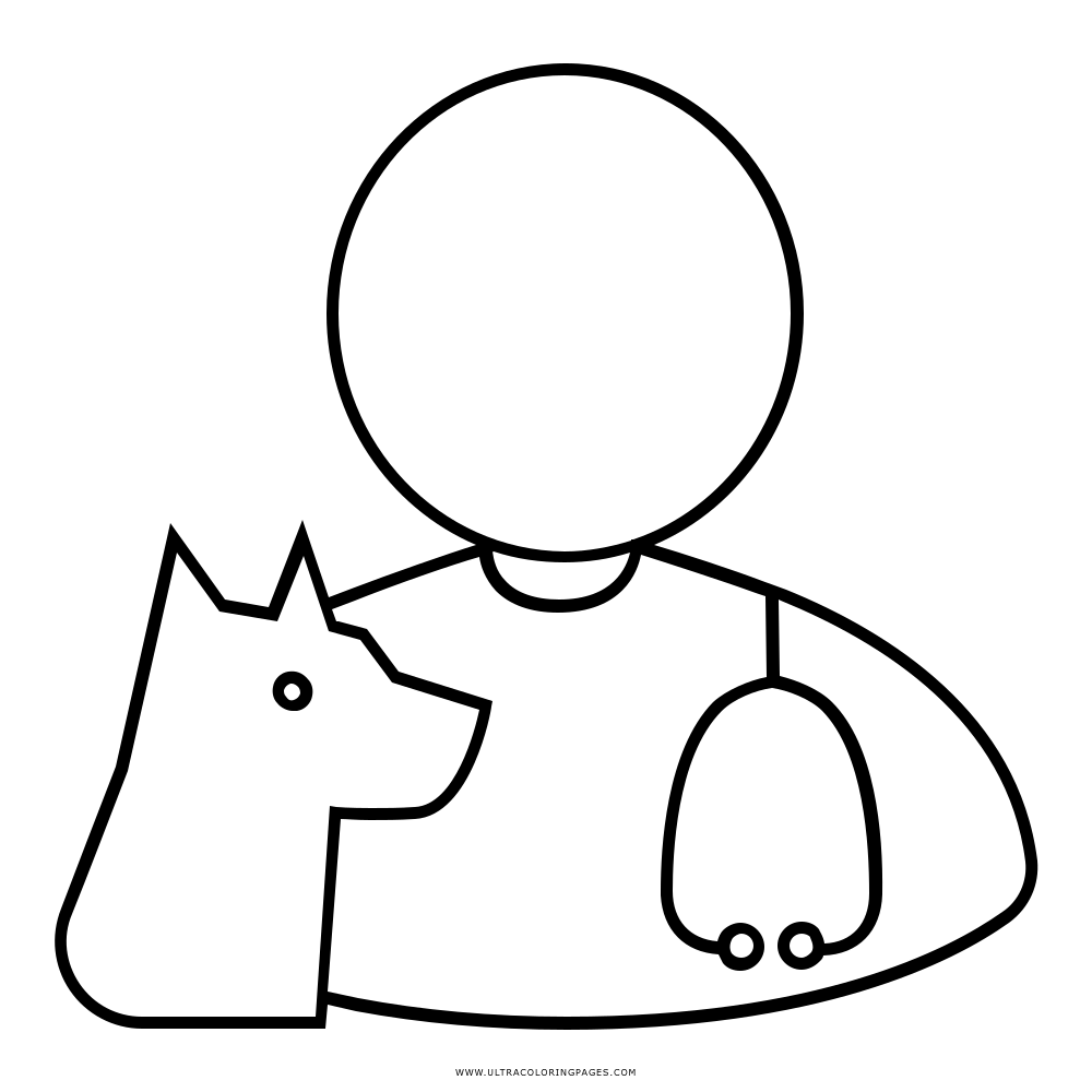 Veterinarian Coloring Page Ultra Coloring Pages