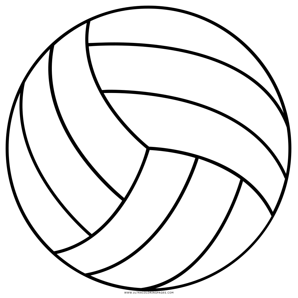 Volleyball Coloring Page Ultra Coloring Pages