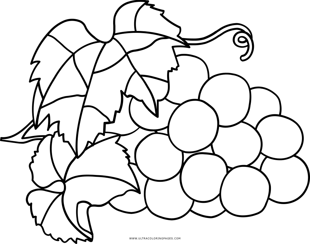 Grapes Coloring Page Ultra Coloring Pages