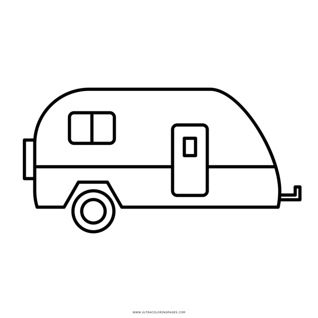 Camper Coloring Page - Ultra Coloring Pages