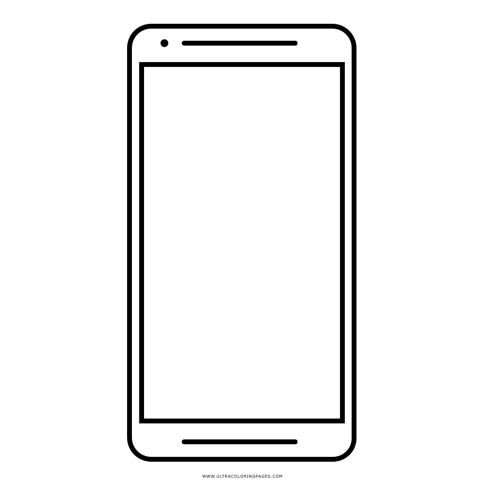 Smartphone Coloring Page Ultra Coloring Pages