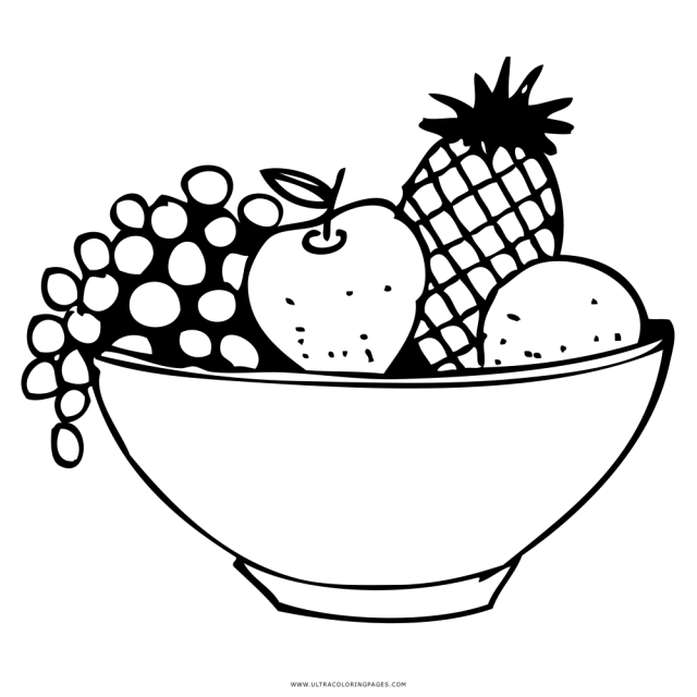 Fruit Basket Coloring Page - Ultra Coloring Pages