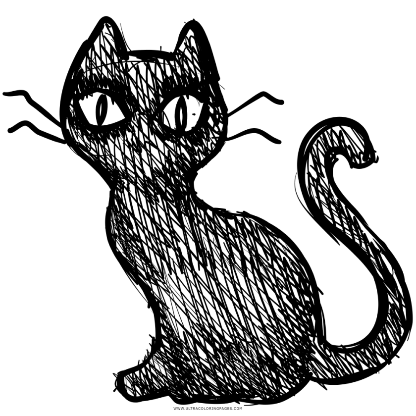 black cat coloring page  ultra coloring pages
